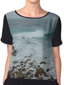 Unsettled Waters at Sennen Cove Chiffon Top
