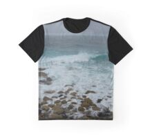 Unsettled Waters at Sennen Cove Graphic T-Shirt
