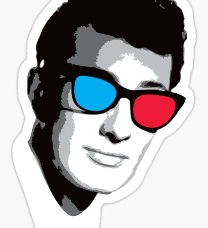 Buddy Holly 3D Glasses Sticker