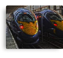 Train Shapes Canvas Print