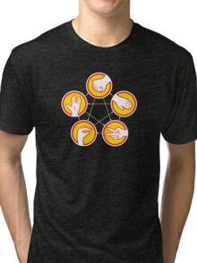 Rock Paper Scissors Lizard Spock - Yellow Variant Tri-blend T-Shirt