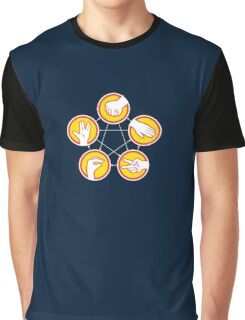Rock Paper Scissors Lizard Spock - Yellow Variant Graphic T-Shirt