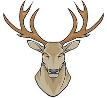 Stag head by trenzy