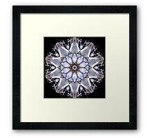 Chrome Motorbike Engine Kaleidoscope  Framed Print