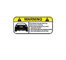 Toyota 86 Warning Drift Photographic Print