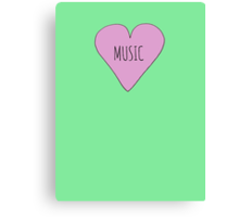 MUSIC LOVE Canvas Print