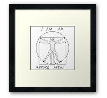 I am an anthro artist Framed Print