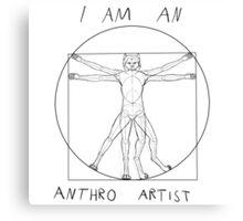 I am an anthro artist Canvas Print