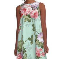 Vintage flower garden texture  A-Line Dress