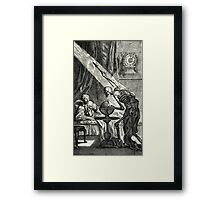 18th C. Visit from the Grim Reaper  Framed Print