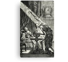 18th C. Visit from the Grim Reaper  Canvas Print