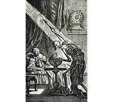 18th C. Visit from the Grim Reaper  Photographic Print