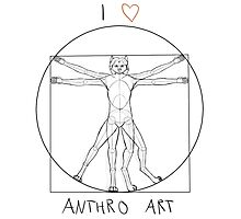 I love anthro art Photographic Print