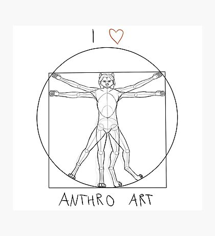 I love anthro art Photographic Print