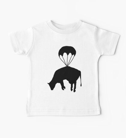 Airborne cow Baby Tee