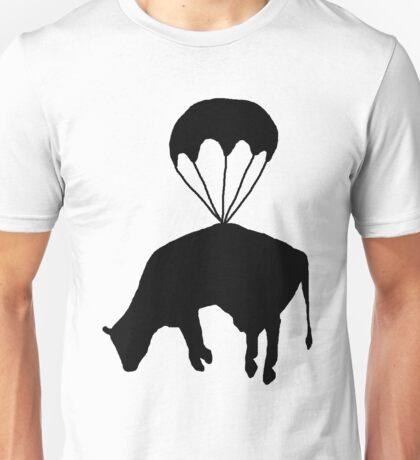 Airborne cow Unisex T-Shirt