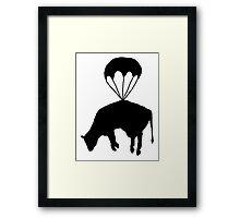 Airborne cow Framed Print