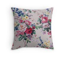 Roses on the garden texture Throw Pillow