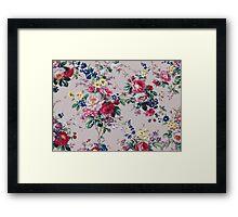 Roses on the garden texture Framed Print
