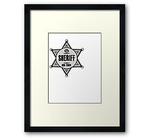 Halloween - Boo Town Sheriffs Badge  Costume Framed Print
