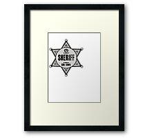 Halloween - Boo Town Sheriffs Badge  Costume Framed Print