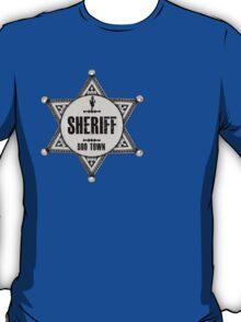 Halloween - Boo Town Sheriffs Badge  Costume T-Shirt