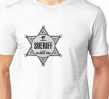 Sheriff Of Halloween Town Badge Costume Unisex T-Shirt