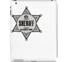 Sheriff Of Halloween Town Badge Costume iPad Case/Skin