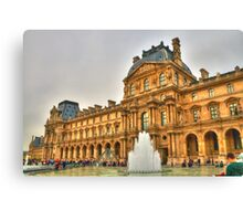 I Love The Louvre Canvas Print