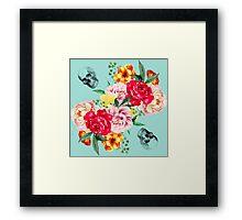 Skull and roses Framed Print