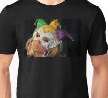 Blond Woman with Mask Unisex T-Shirt