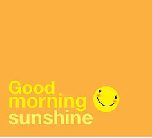 Good morning sunshine with happy face duvet by jazzydevil
