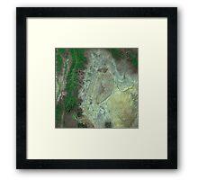 Capitol Reef Canyonlands National Parks Utah Satellite Image Framed Print