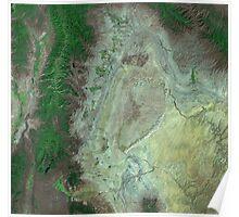 Capitol Reef Canyonlands National Parks Utah Satellite Image Poster
