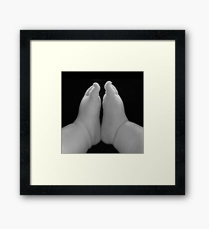 Small feet ready to conquer the world (square) Framed Print