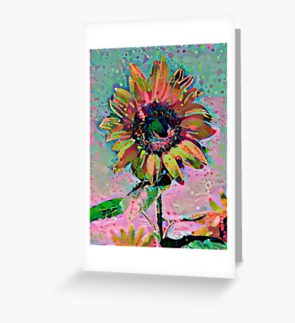 Sunflower Abstract 1 Greeting Card