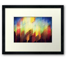 Minimalist Colorful Urban design Framed Print