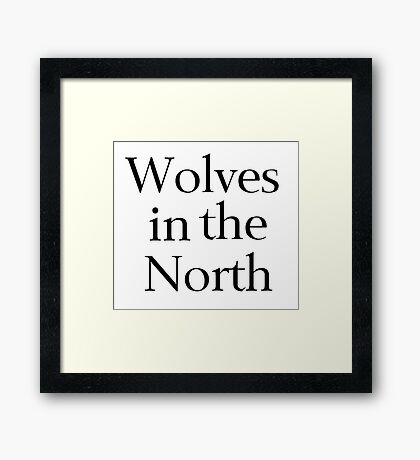 Wolves in the North Framed Print