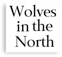 Wolves in the North Canvas Print