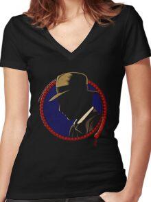 Indiana Jones - Profil Women's Fitted V-Neck T-Shirt