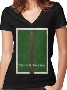 Cannibal Holocaust - Minimal Poster Women's Fitted V-Neck T-Shirt
