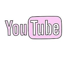 PipSqueakTees - Youtube Logo Pink by PipSqueakTees
