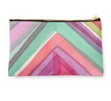 Bright Watercolor Chevron Studio Pouch
