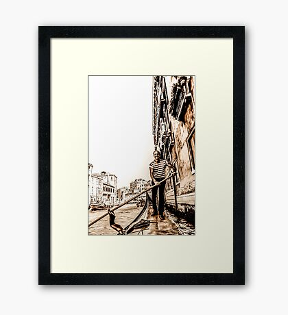 At Your Service Framed Print