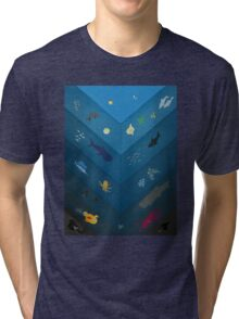 Layers of the Sea Tri-blend T-Shirt