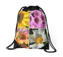 FLOWER BLOSSOMS FABULOUS FOURSOME  Drawstring Bag