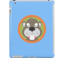Cute Beaver head with orange circle iPad Case/Skin