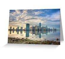 Miami Skyline Greeting Card