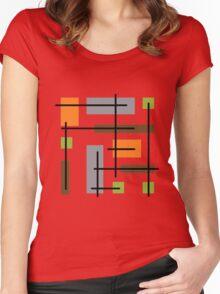 Cubicle Atomic Era Art Women's Fitted Scoop T-Shirt