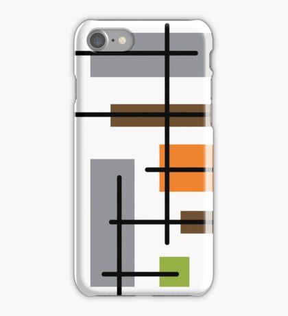 Cubicle Atomic Era Art iPhone Case/Skin